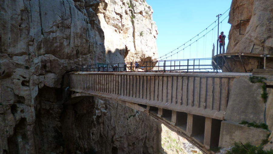 King's walkway in the Mountains North of Malaga